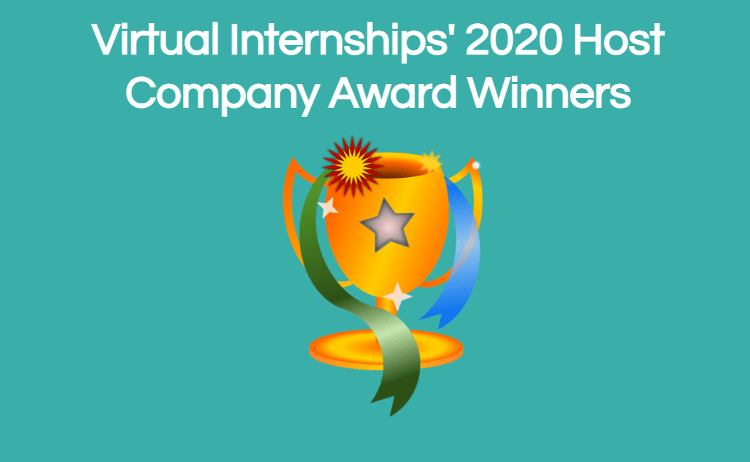 Virtual Internships' 2020 Host Company Award Winners